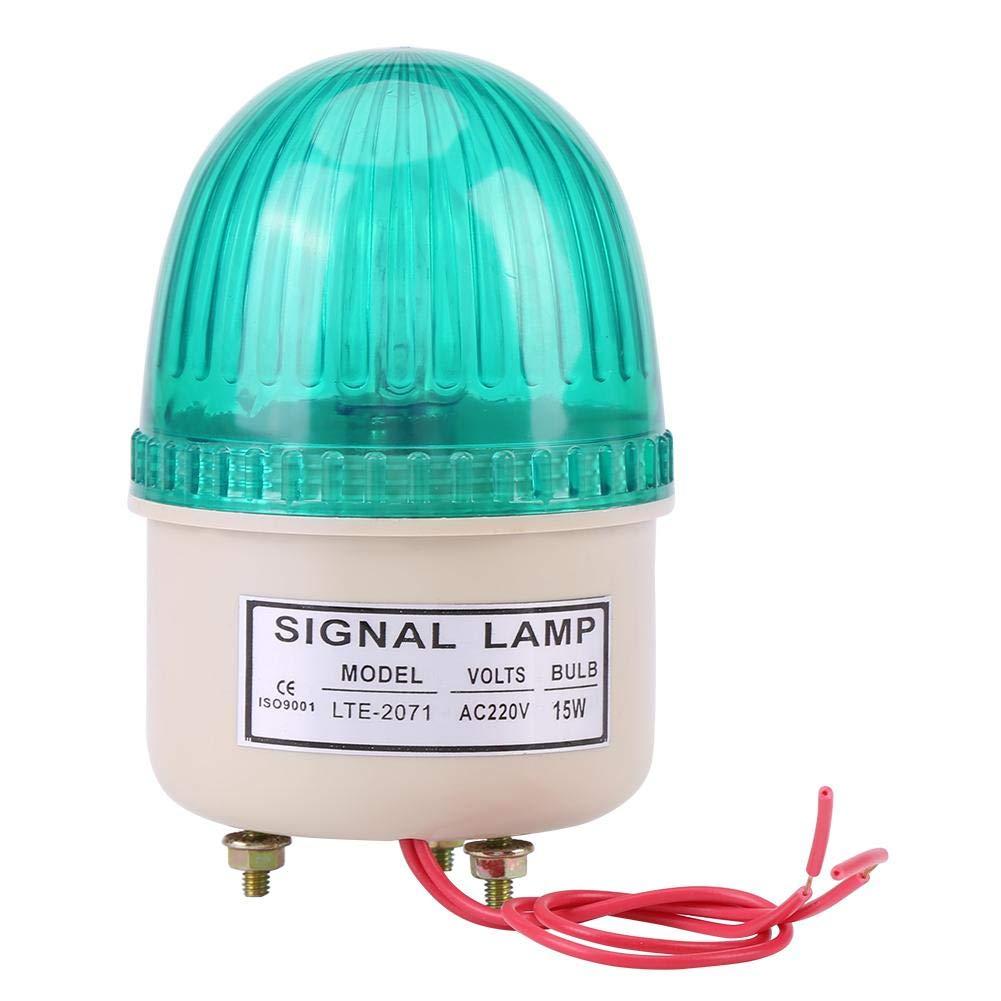 AC 220V 15W Industrial Warning Lights, LED Flash Warning Lights Headlight Rotating Warning Light Fixed Spiral Warning Beacon for Industrial (#2)