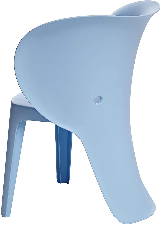 DHgateBasics, Blue Premium Plastic Kids Chairs, Elephant, 2-Pack