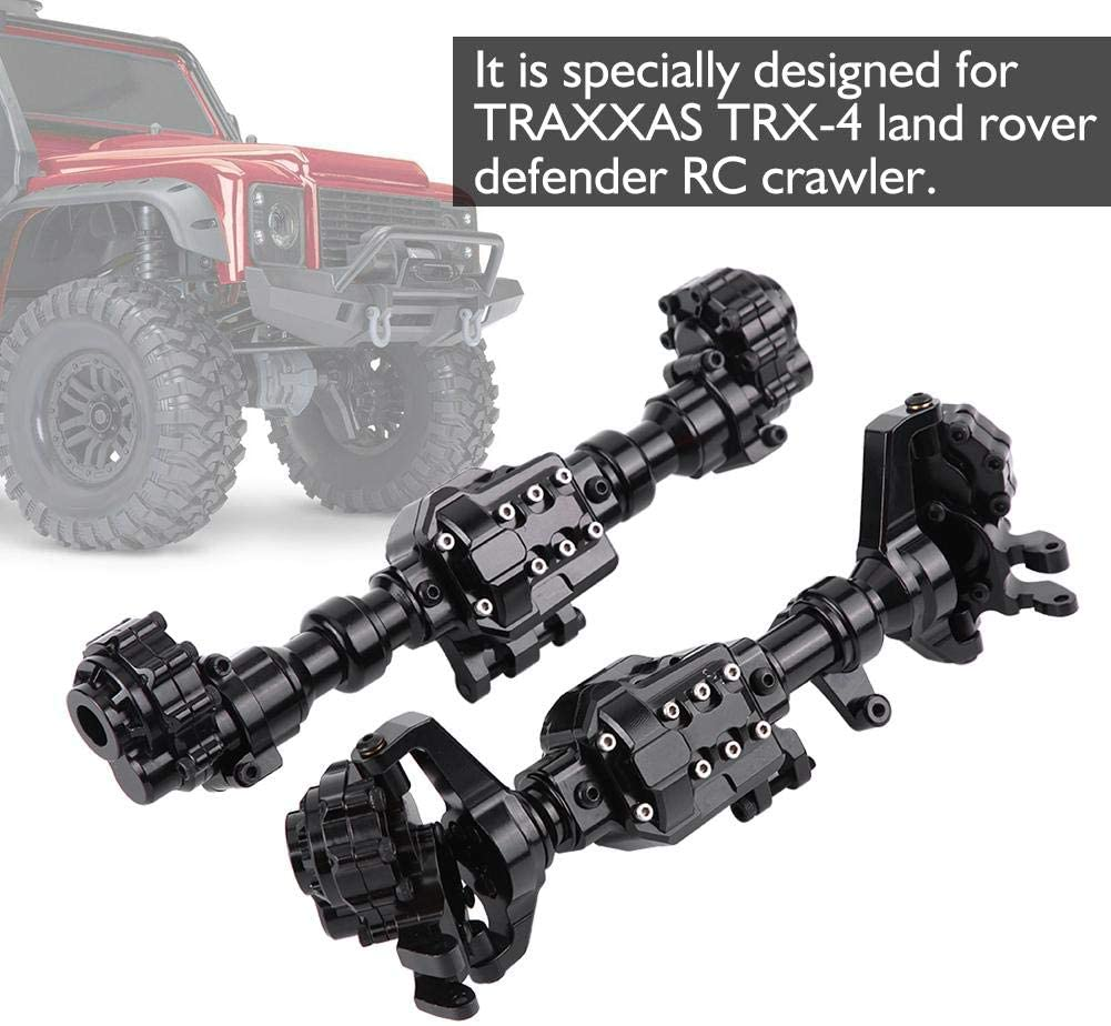 Parts & Accessories 2PCS Front Rear Axles Housing Set for Traxxas -4 Defender 1/10 RC Crawler Car RC Model Part Acces high polishing Performance