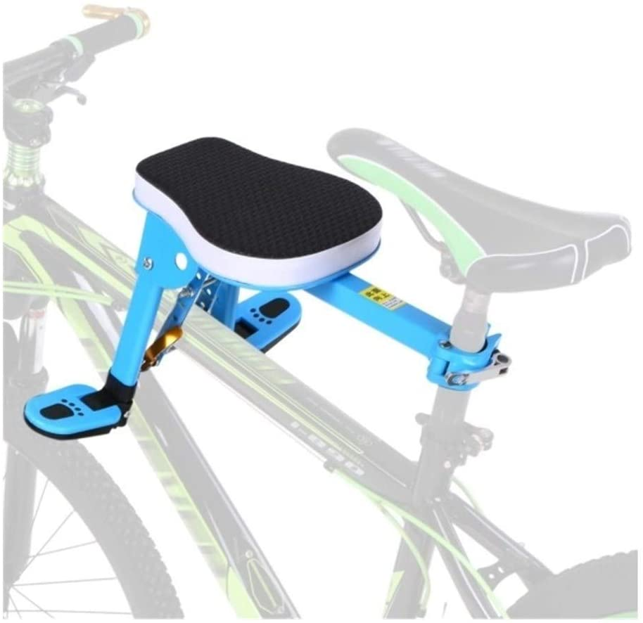 LTY Child Bike Seat, Front Mount Child Bicycle Seat Pedal Kids Carrier Children Safety Front Seat Saddle Cushion for Mountain Bike