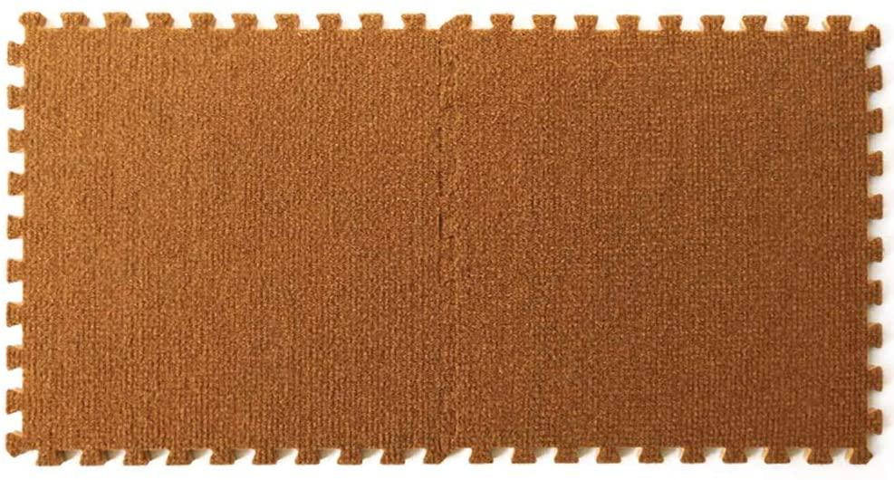 KFDQ Spliced Carpets,Wear-Resistant Soundproof Office Square Shape Splicing Floor Mat Can Be Cut Washable 2 Pcs, 30X30X0.6Cm, 5 Colors,B,2 Pcs