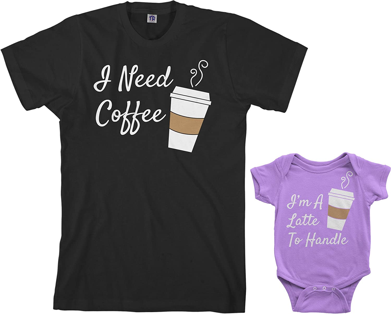 Threadrock Coffee & Latte Infant Bodysuit & Men's T-Shirt Matching Set