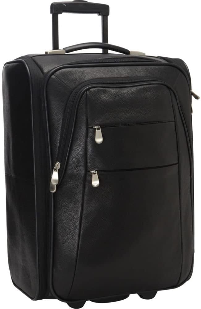Bellino Leather Folding Luggage, Black