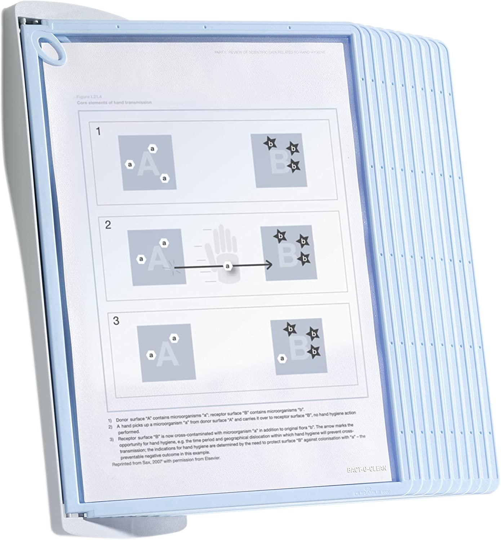 Durable Sherpa Bact-o-Clean Wall 10 Display Unit - 10 Panels
