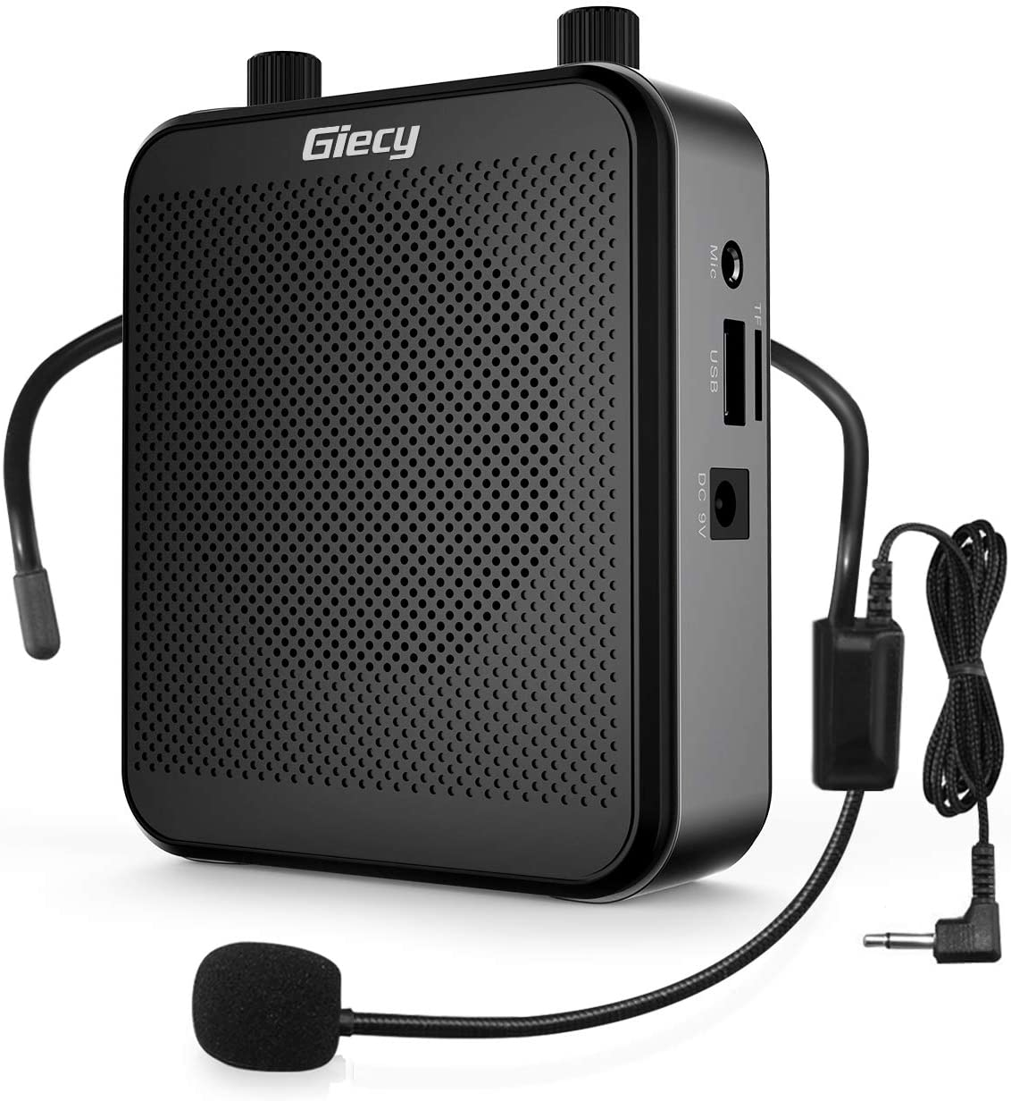 Giecy Voice Amplifier Portable Bluetooth 30W 2800mAh Rechargeable PA System Speaker for Multiple Locations Such as Classroom, Meetings and Outdoors