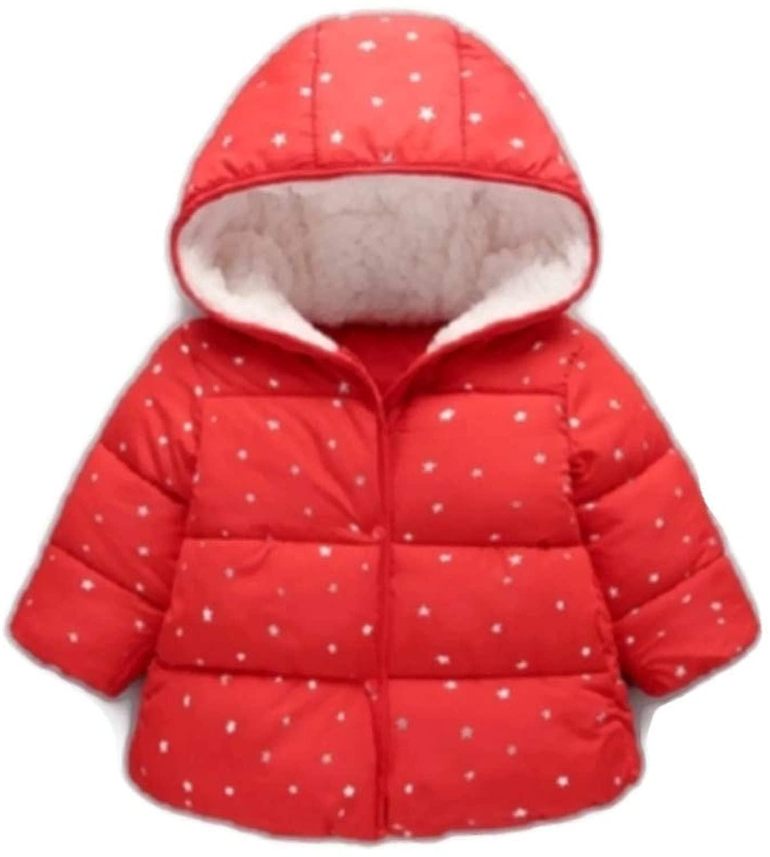Asasa Winter Children Button + Zipper Version Stars Fleece Down Jacket