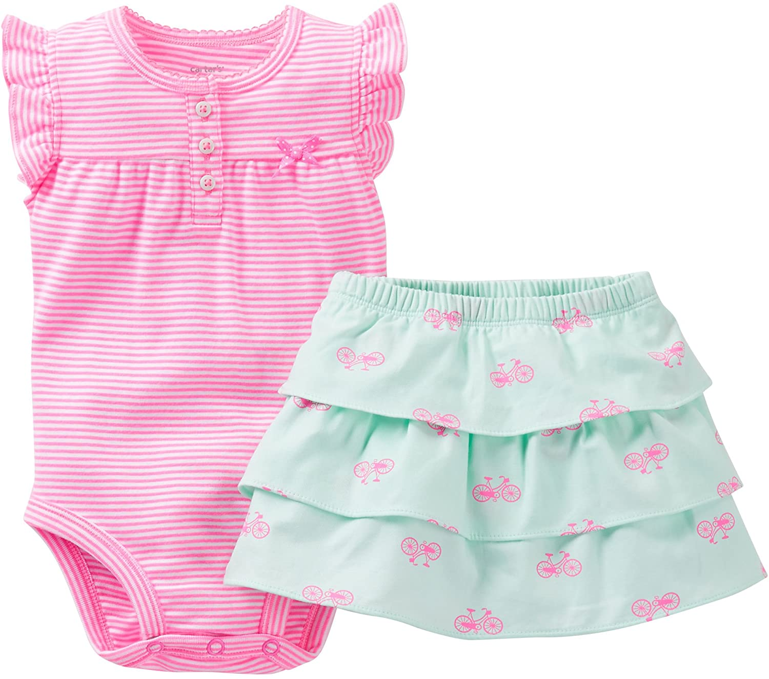 Carter's Baby Girls' 2 Piece Bodysuit & Skirt Set