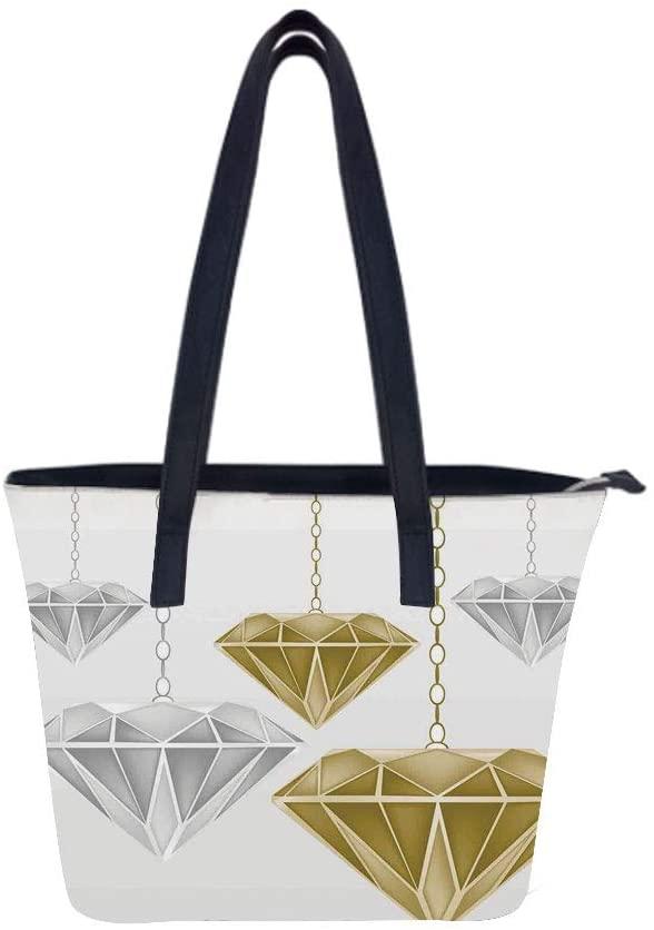 Diamonds Fashion The Women Leather Laptop Tote Office Shoulder Handbag Computer Briefcase