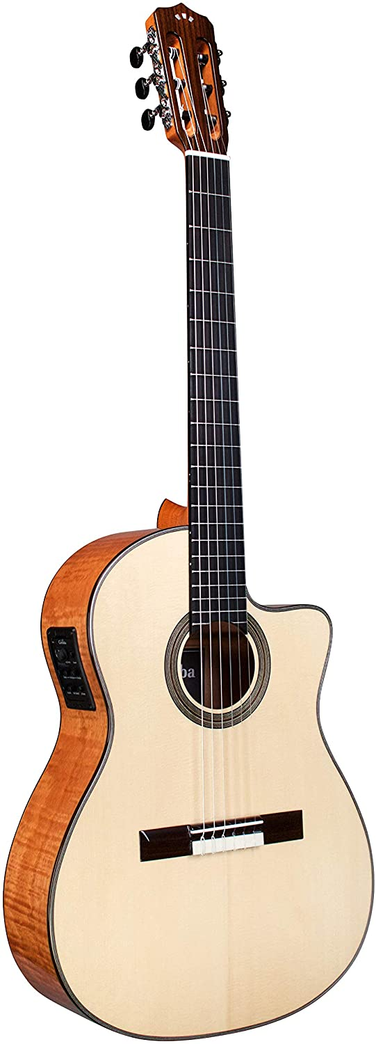 Cordoba Fusion 14 Maple Crossover Cutaway Acoustic-Electric Nylon String Guitar, Fusion Series
