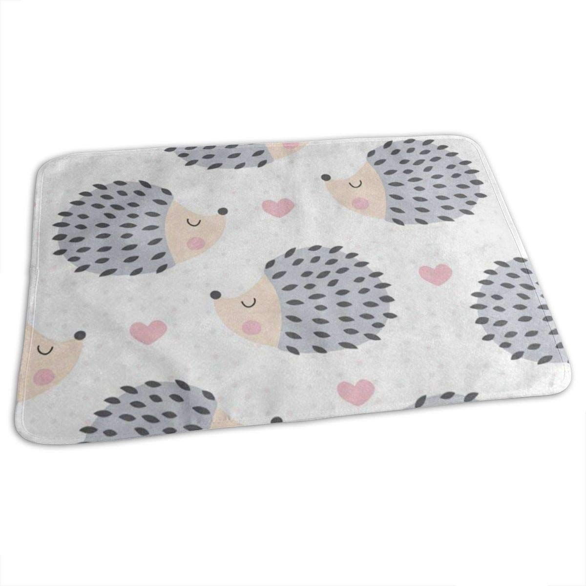 Changing Pad Cartoon Cute Hedgehog Love Heart Baby Diaper Urine Pad Mat Marvellous Adults Bed Wetting Pads Sheet for Any Places for Home Travel Bed Play Stroller Crib Car