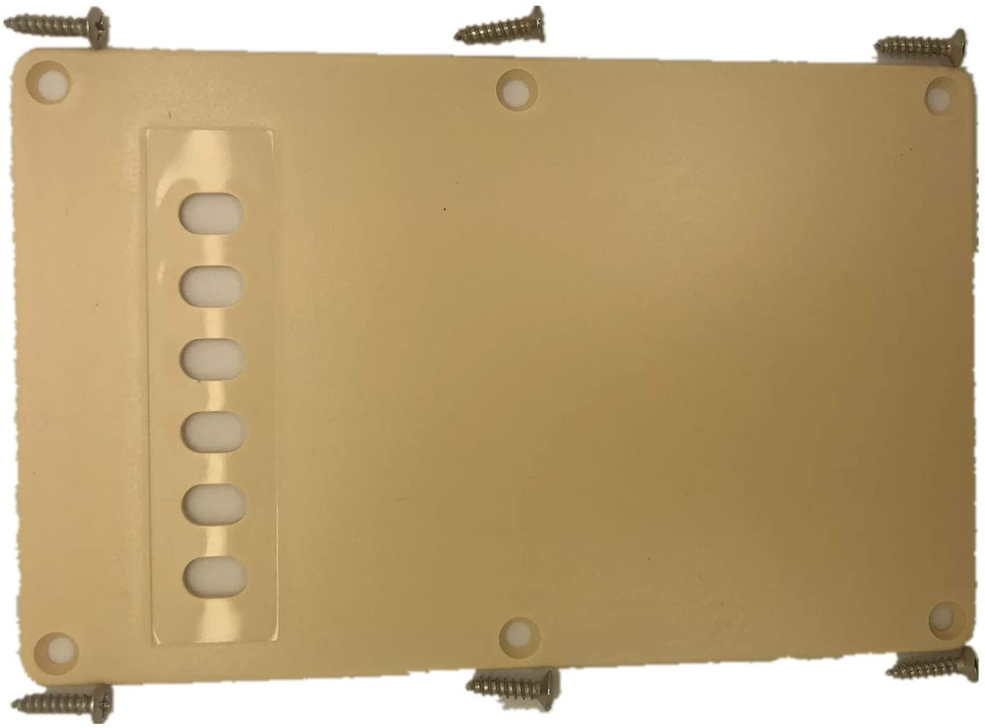 6 Hole Guitar Back Plate Tremolo Cavity Cover Backplate for China Made Squier Guitar Parts,3Ply Cream