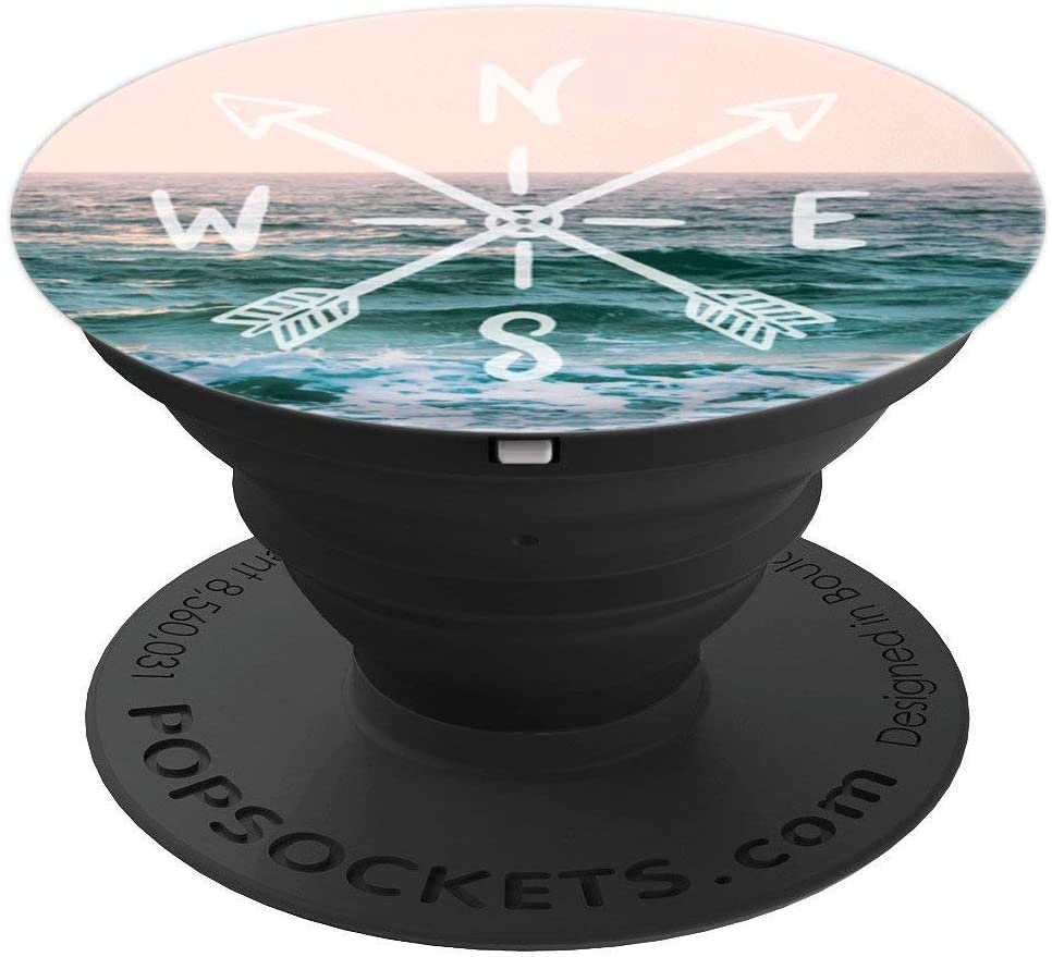 Arrows and Compass Pastel Ocean Sea by Nature Magick PopSockets Grip and Stand for Phones and Tablets