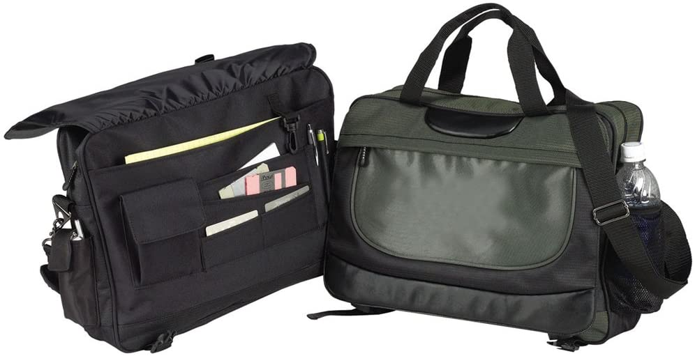 OLIVE-EXPANDABLE SOFTSIDE BRIEFCASE