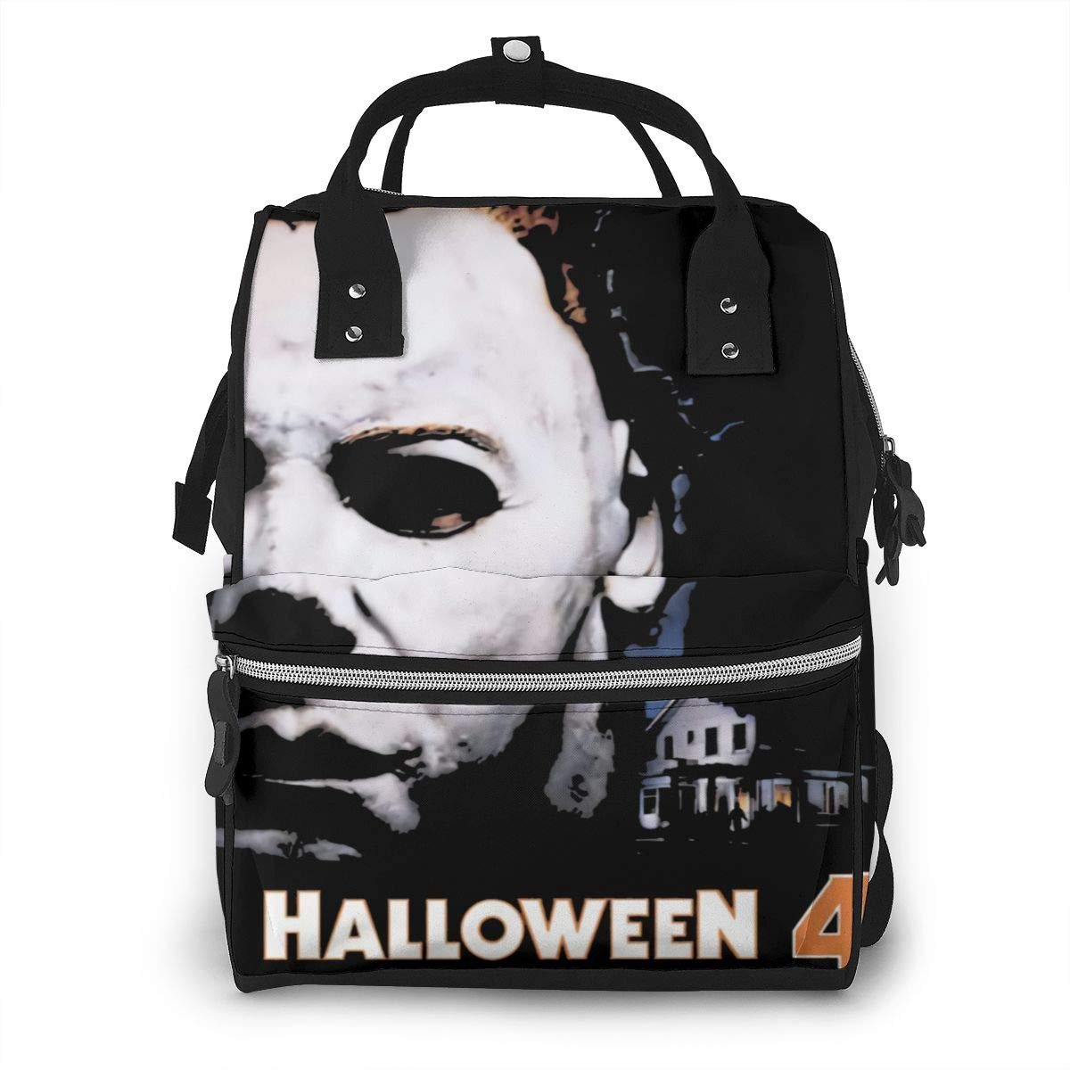 Halloween 4 The Return of Michael Myers Durable, Large Capacity, Stylish, Adjustable Strap Length Mummy Backpack