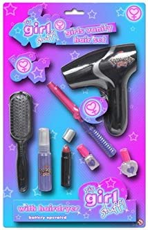 Toyland Girls 8pce Hair Set - Hairdryer, Curlers + Accessories - Girls Toys