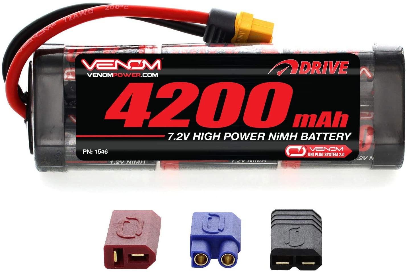 Venom 7.2v 4200mAh 6-Cell NiMH Battery with Universal Plug System