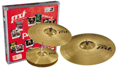 Paiste PST 3 Cymbal Universal Set Only Setup 14-inch/16-inch/20-inch