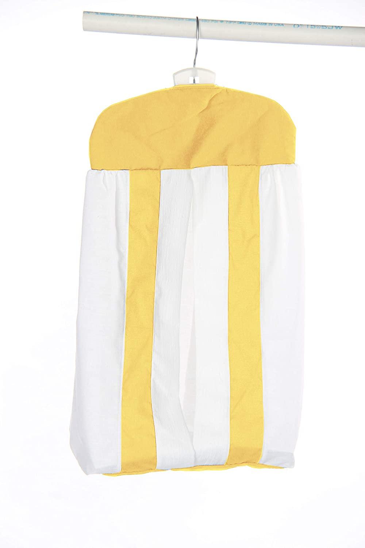 Baby Doll Bedding Modern Hotel Style Crib Diaper Stacker, Yellow
