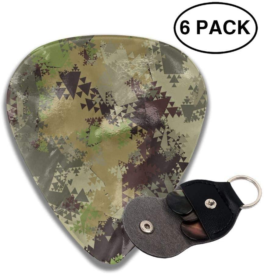 SHARP-Q Camouflage Celluloid Guitar Picks Plectrum for Guitar Bass