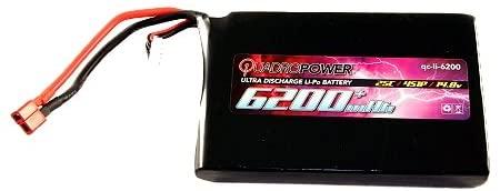QuadroPower 6200mAh (4s) RC Lipo Battery - Flat
