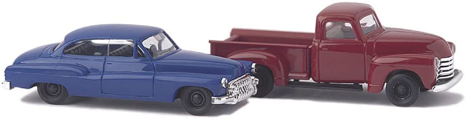 Busch 8320 Chevy Pick-Up/Buick 1950's Set of 2 N Scale Model Automobile