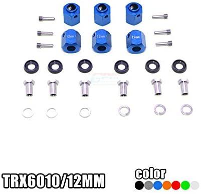 Parts & Accessories Aluminum HEX ADAPTERS 12MM Thick Set TRX6010/12MM for 1/10 Scale TRX6 Benz G63 6X6 88096-4 - (Color: Black)