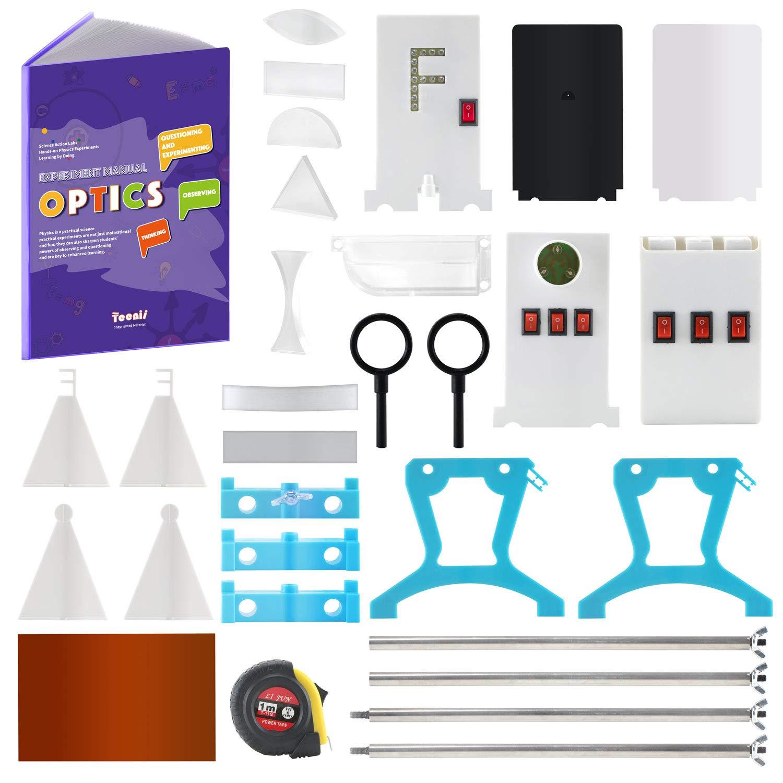 Teenii STEM Physics Science Lab Optics Learning Starter Kit Light Experiment for Kids Elementary Junior Senior High School Students Education Toys