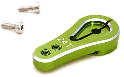 Integy RC Model Hop-ups C27010GREEN Billet Machined Alloy Servo Horn 24T for Hitec Servo (r=16, 20mm)