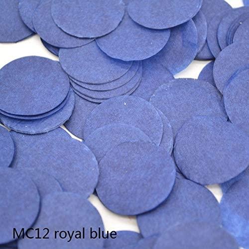 Rarido 1500pcs 2cm Multicolor Romance Round Paper Confetti Party Wedding Table Decoration - (Color: MC12 royal blue)