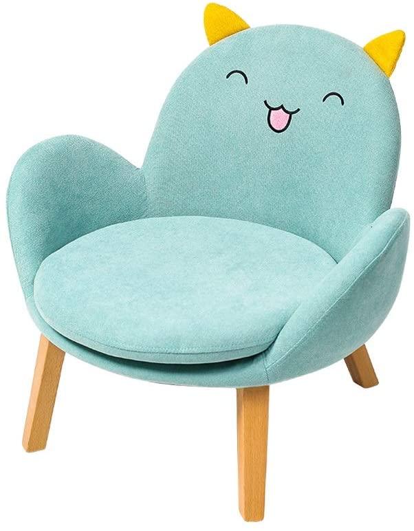 MWY Lazy Sofa Children's Sofa Armchair Comfortable and Durable Cartoon Child Chair Mini Sofa Wooden Frame Children's Furniture Blue 42X44x55cm