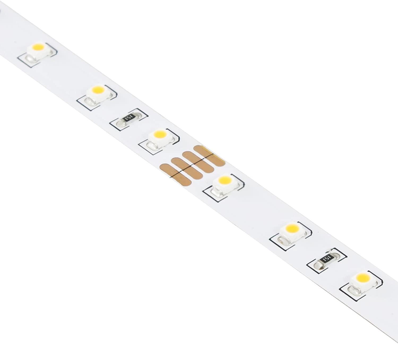 American Lighting TL-24V-60U-WH-33 60-Unjacketed LEDs Per Meter Dimmable 5000K LED Tape Light Reel, 32.8', White