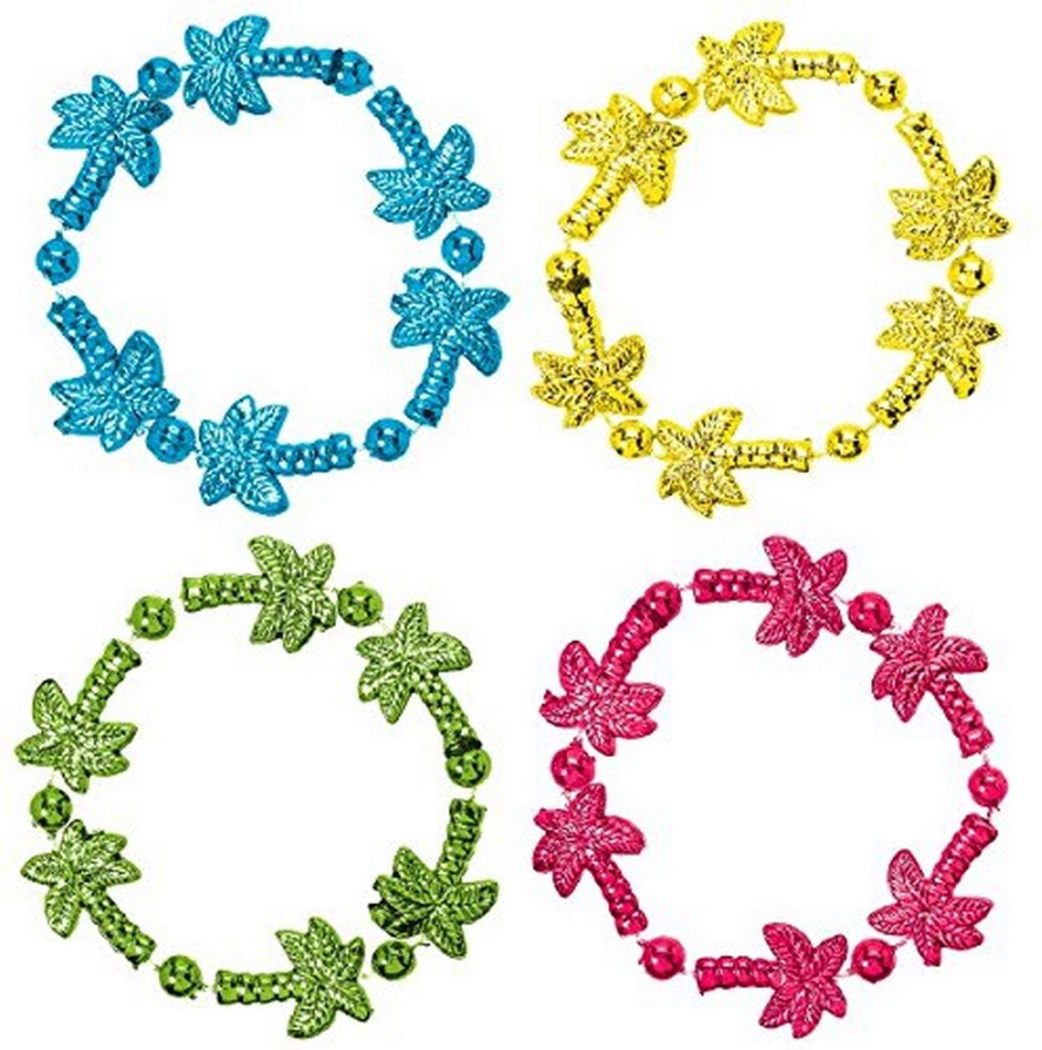 Amscan Tropical Beaded Party Bracelets, 8