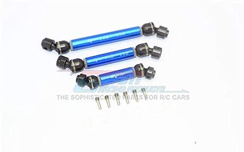 Traxxas TRX-6 MERC-Benz G63 (88096-4) Steel+Aluminium Front + Center + Rear CVD Drive Shaft - 3Pc Set Blue