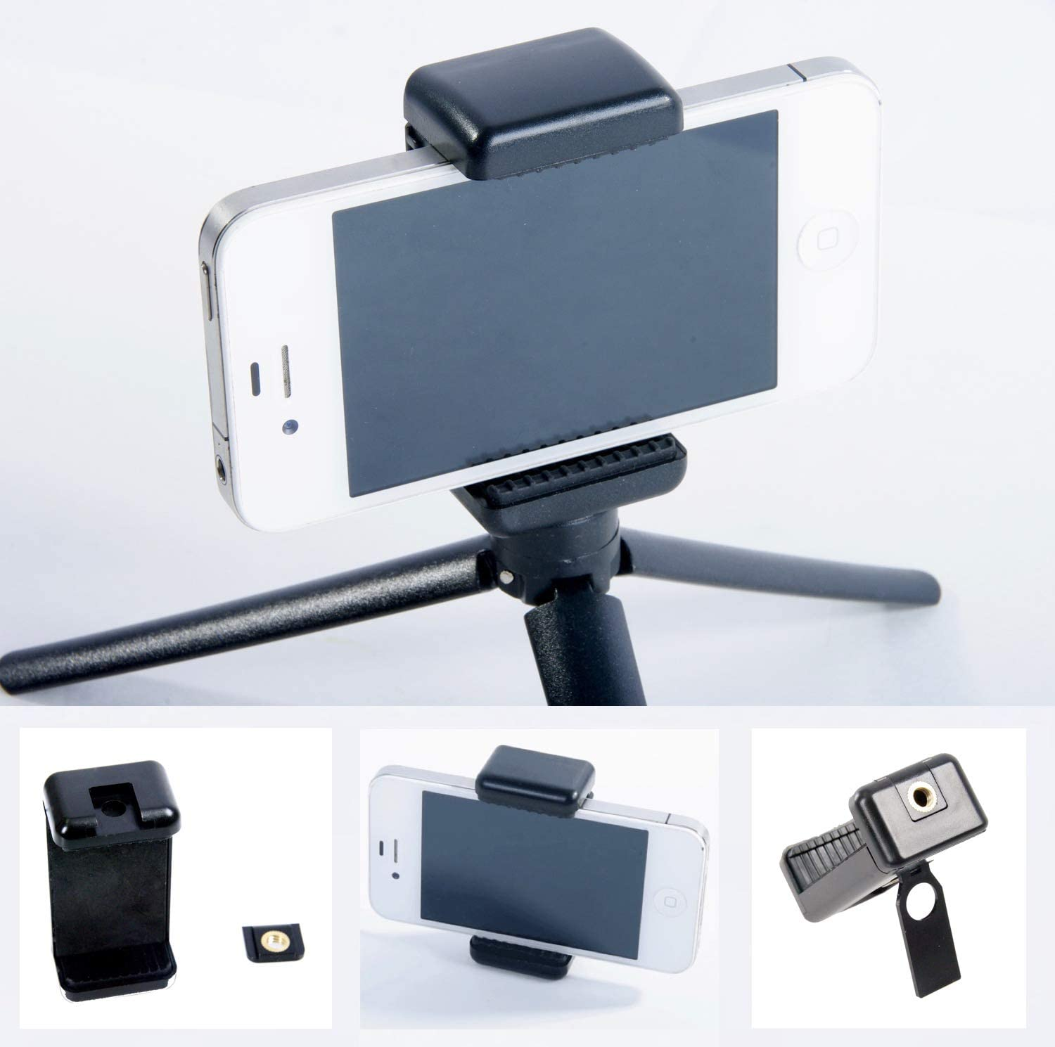 Smartphone Holder Bracket with Stand and 1/4 inch Tripod Adapter Mount Phone Adjustable