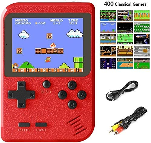 Handheld Game Console, Portable Retro Game Player with 400 Classical FC Games 2.8-Inch Color Screen Handheld Gameboy Support TV Two Players 800mAh Rechargeable Battery Gift for Kids and Adult