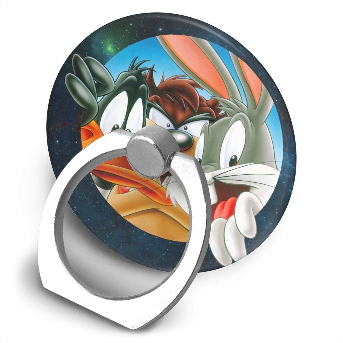 April M Cohen Looney Tunes Finger Ring Stand, 360 Degree Rotating Universal Cell Phone Holder Bracket Stand Mount Grip