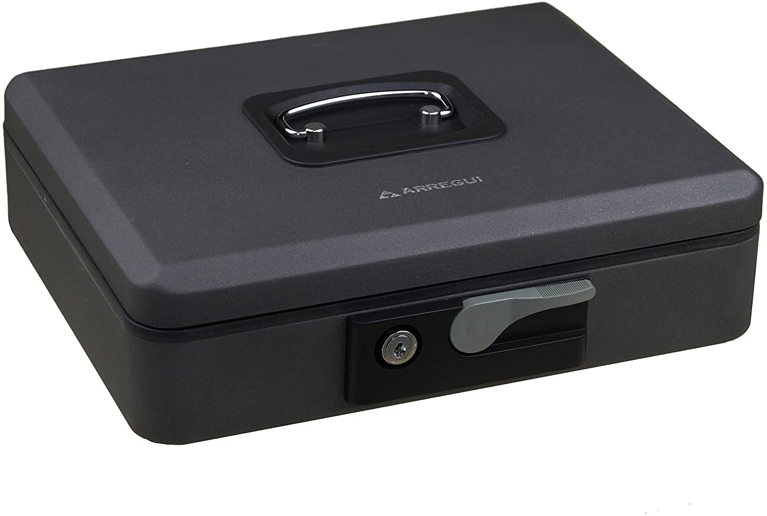 Arregui Pop-Up – Cash Box with Opening Button (Steel) Graphite, Grey, C9746