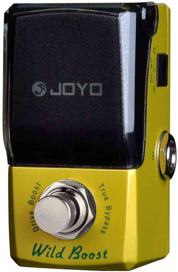 JOYO JF-302 Boost Guitar Effects Pedal Exciter & Overdrive Effect Booster Pedal for Electric Guitar With +-12dB Low / High EQ Effect