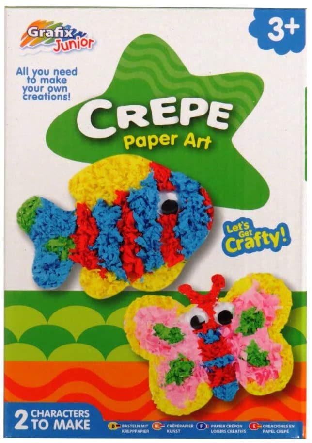 Grafix Junior Crepe Paper Art, Fish and Butterfly