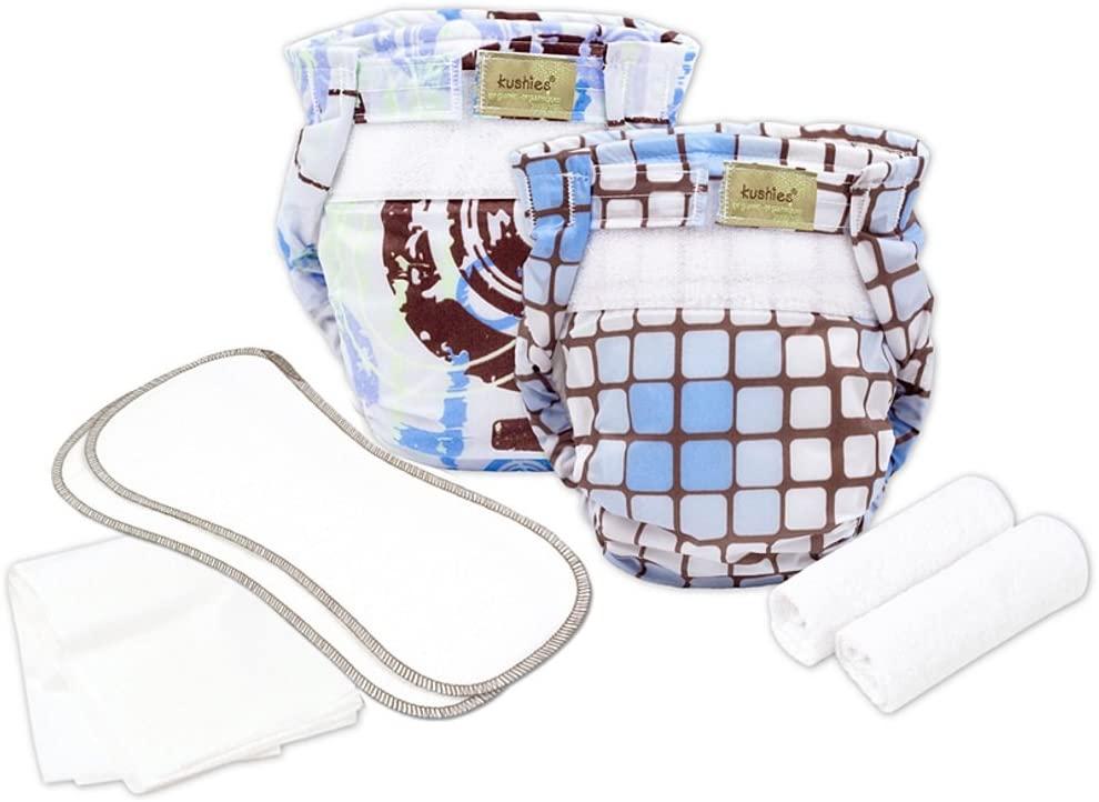 Kushies Organic Ultra-Lite Infant Diaper Trial Pack (Boy)