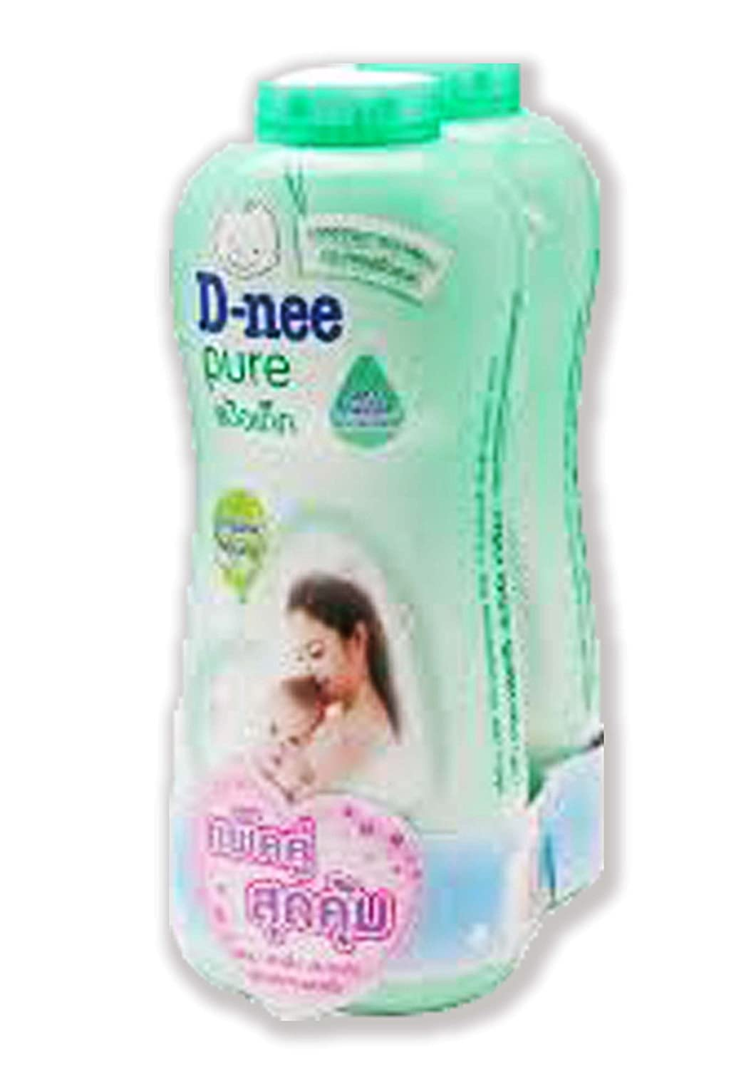 D-Nee Pure Baby Powder Organic Natural 400 g. Pack 2