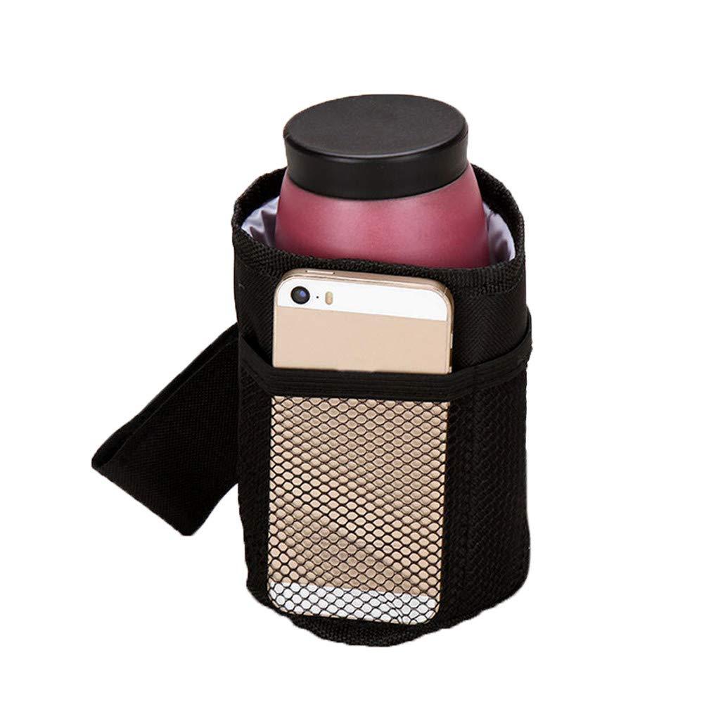 Universal Baby Stroller Cup Holder, Waterproof Large Caliber Designed Cart Drink Holder, Antislip Pram Parent Mug Organizer for Pushchair, Bicycle, Wheelchair, Motorcycle, Tools Free