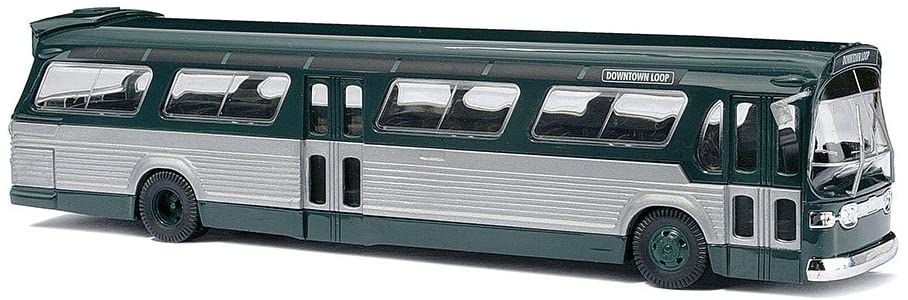 Busch 44500 Fishbowl Bus Grn/SLV HO Scale Vehicle