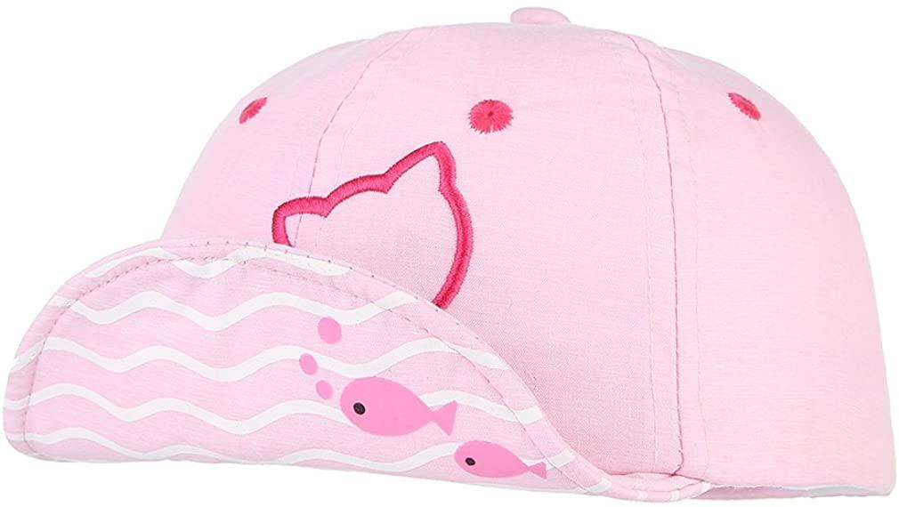 Jelord Baby Summer Sun Hat Cotton Peaked Baseball Cap