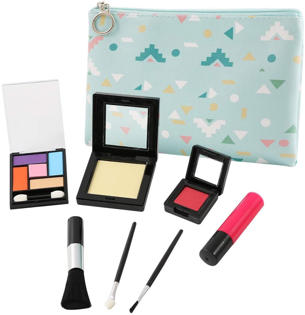 TOKIA Pretend Play Makeup for Toddlers and Little Girls with Cosmetic Bag ( Not Real Makeup No Mess )