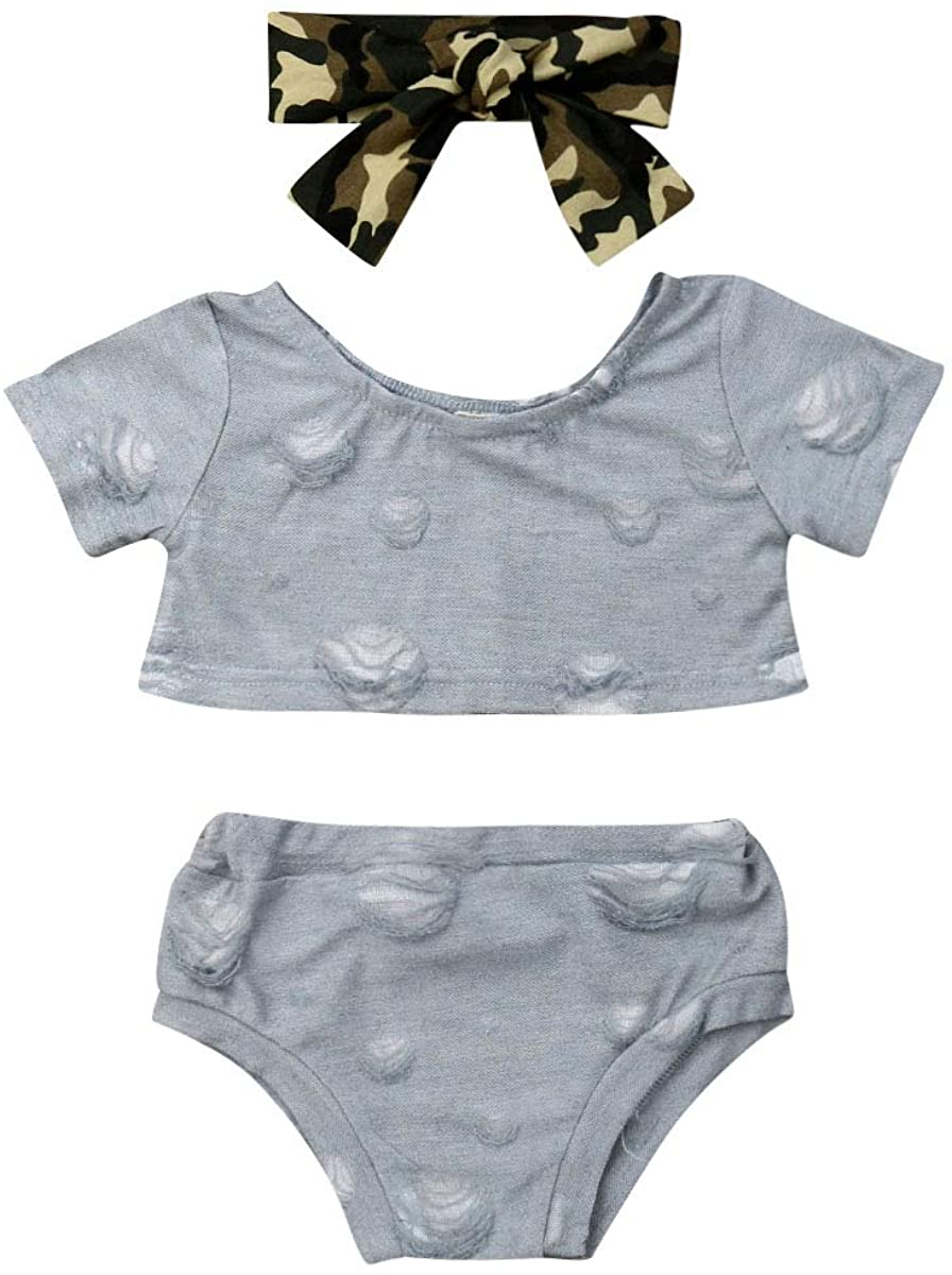 luethbiezx Baby Unisex Boy IRL Destroy Tank Top+Shorts Pants Outfit with Bowknot Headband
