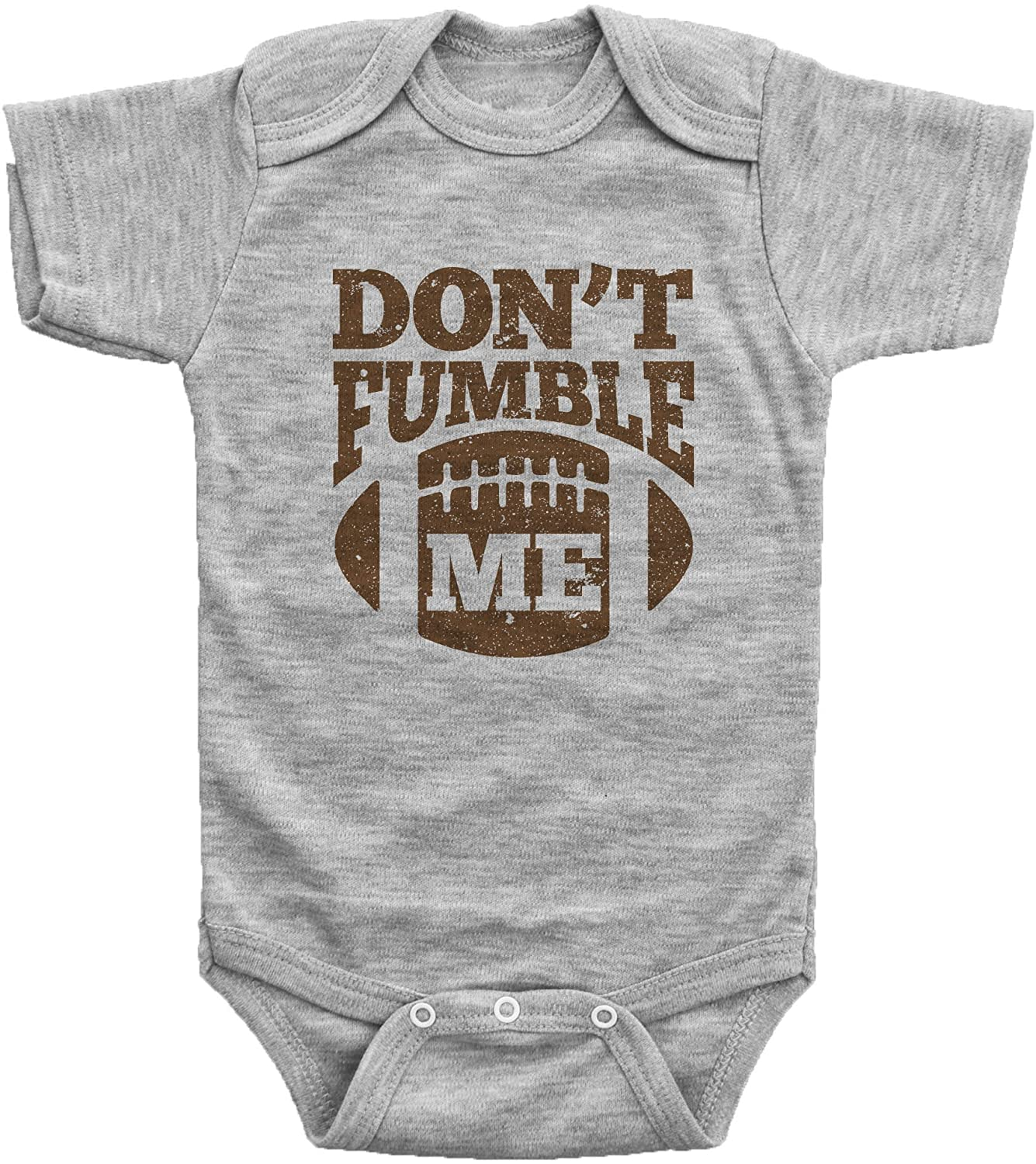 Baffle Funny Football Onesies for Babies/Dont Fumble ME/Baby Bodysuit