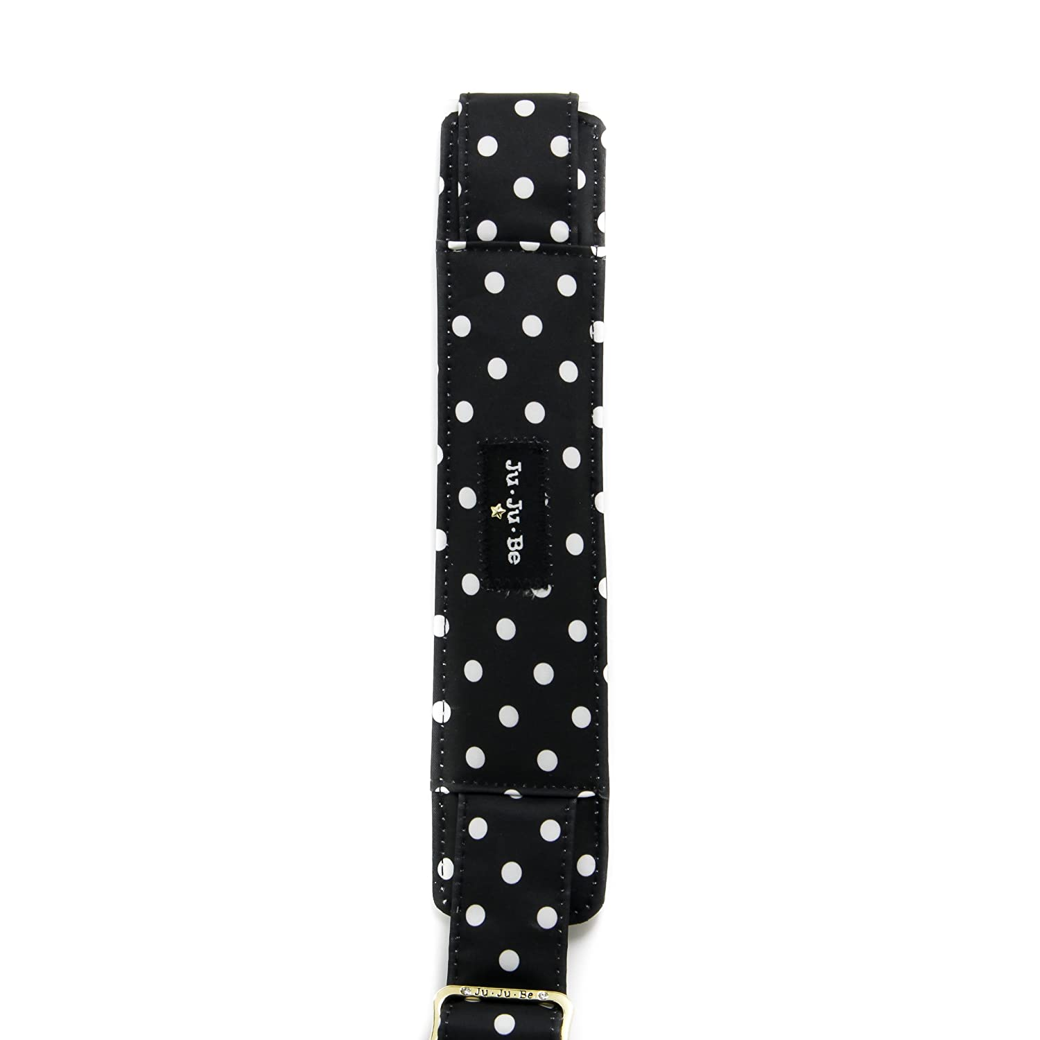 JuJuBe Messenger Strap, Legacy Collection - The Duchess - Black with White Polka Dots
