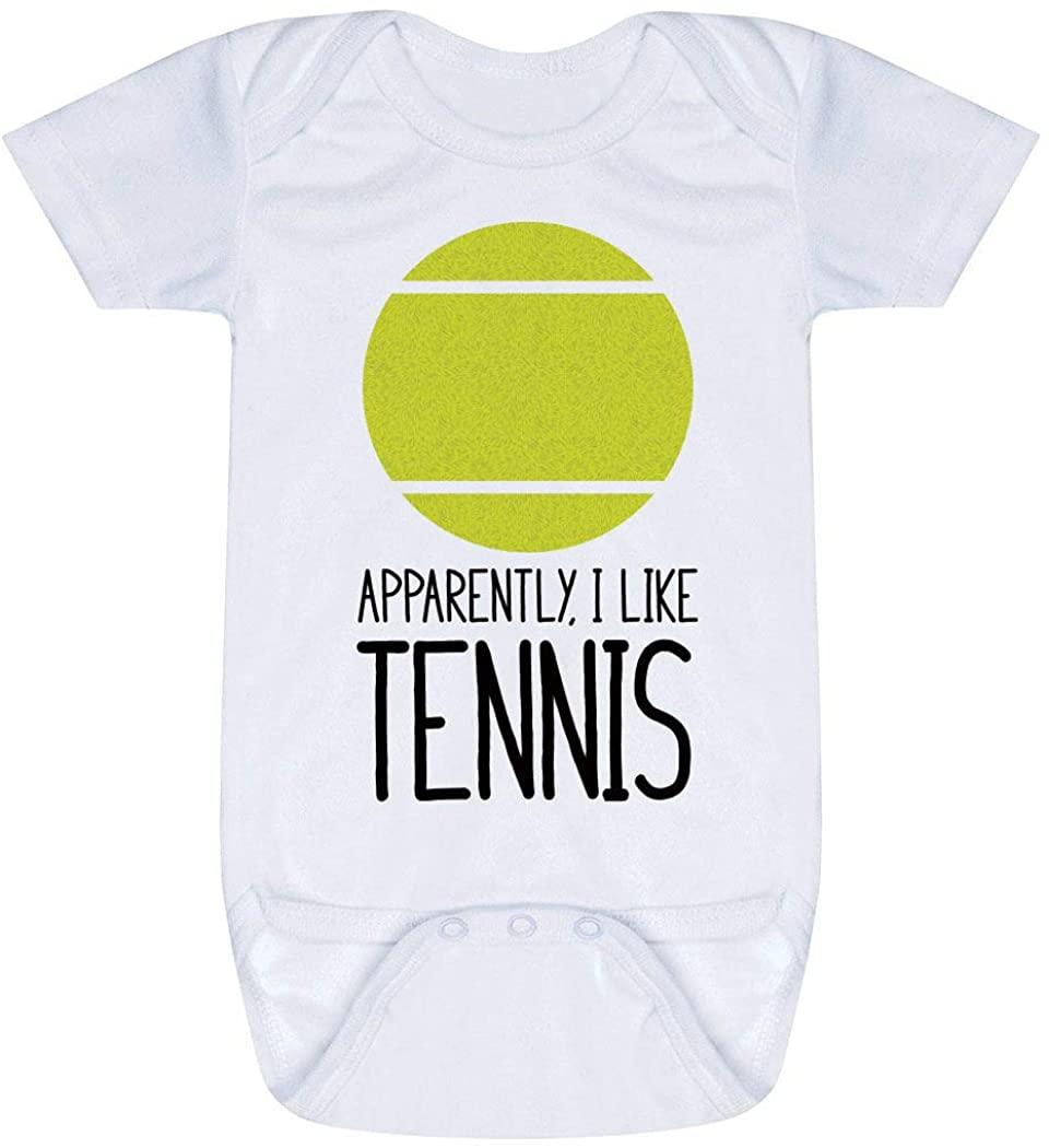 ChalkTalkSPORTS Tennis Baby & Infant Onesie | Tennis Apparently, I Like Tennis