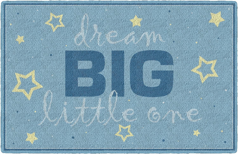 Brumlow Mills Dream Big Blue Baby Boy Nursery Rug, 1'8